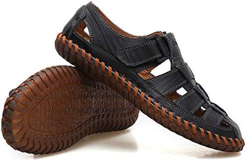 スポーツサンダル 紳士靴 カジュアルシューズ スリッポン アウトドア メンズ 牛皮 通気 軽量 滑り止め ブラック 24.0cm 792048