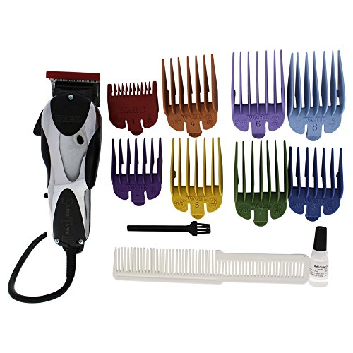 Wahl Professional Super Taper II Hair Clipper #8470-500 – Ultra-Powerful Full Size Clipper – V5000 Electromagnetic Motor – Includes 8 Attachment Combs