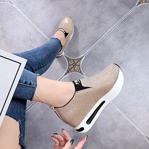 Pailletten OYSOHE Winter Herbst Casual Slip Sportschuhe Schuhe Dicke Damen und Plattform Gold Basic On 5qnPqxRrw