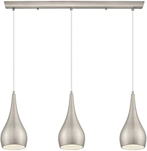 Home Decorators Collection 3-Light Matte Nickel Multi Pendant