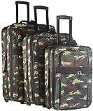 3 Piece Expandable Luggage Set Camouflage Print