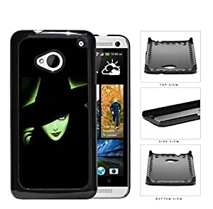 Halloween Green Witch Outline Glow Hard Plastic Snap On Cell Phone Case HTC One M7 by icecream design