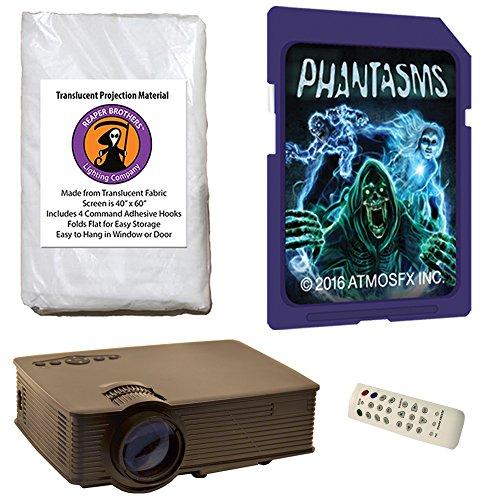 Halloween Digital Decoration Kit Includes 1900 Lumen Projector,