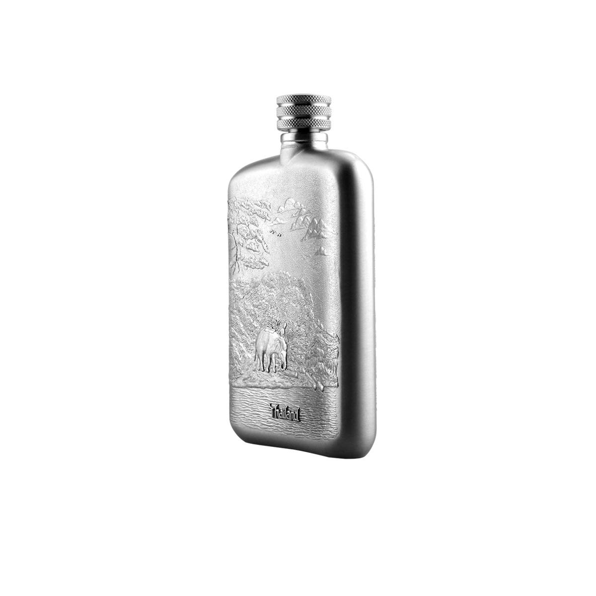 8haowenju Pure Tin, Carry A Small Hip Flask, Outdoor Portable 4 Ounce Hip Flask, Men's Jewelry Wine Gift, Send Friends, Send Brothers, Send Elders, Etc. Easy to Carry