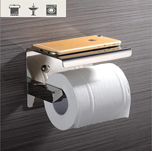 JVCAN SUS 304 Stainless Steel Black & Mirror Chrome Choice Toilet Paper -