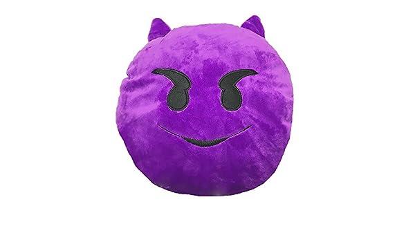 Emoji Smiley Cojines - escena DIABLO púrpura: Amazon.es: Hogar