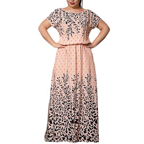 Verano Ropa De Mujer De Gran Tamaño La Moda Relajado Guapo Elegante Perfecto Vestido Pink