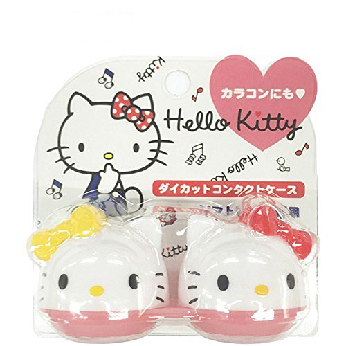 (Hello Kitty Eye Contact Lenses Case)