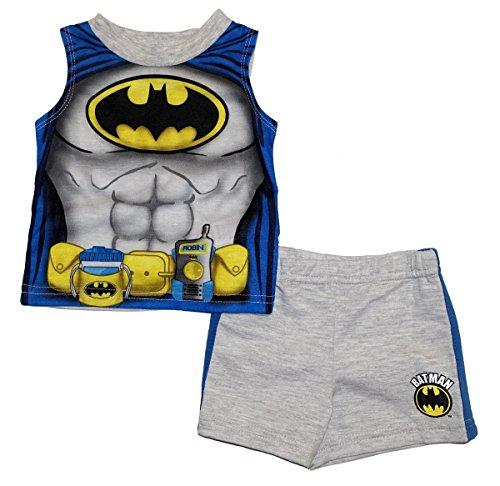 DC Comics Batman Baby Boys Tank Top and Shorts Outfit Set (Batman Newborn Outfit)