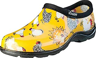 product image for Sloggers 5116CDY10 Size 10 Women's Chicken Print Daffodil Yellow Waterproof Sho