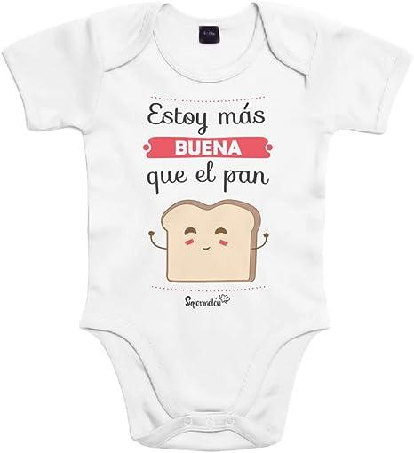 SUPERMOLON Body bebé algodón Estoy más buena que el pan 3 meses ...