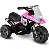 Costzon Kids Ride On Motorcycle, 6V Battery Powered 3 Wheel Bicycle, Electric Toy for Little Child (Pink)