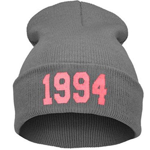(Witspace Men Women Winter Baggy Crochet Wool Knit Ski Beanie Hat 1994 Skull Caps)