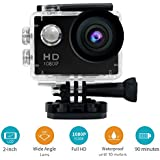 30M Waterproof Sport DV-Mini Sports 1080P HD Action Camera A9 120°Wide-angle Lens for Free Accessories Kit and Waterproof Case