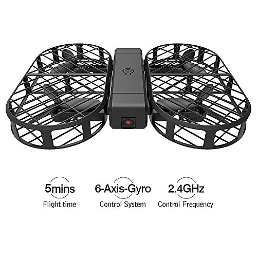 DWI D7 Protable Foldable Arms WIFI FPV Mini Drone with 480P Camera Live Video RTF Helicopter for Kids Adults-Altitude Hold,One-Key Hover,Headless Mode,support HD shooting,VR Split-screen Mode