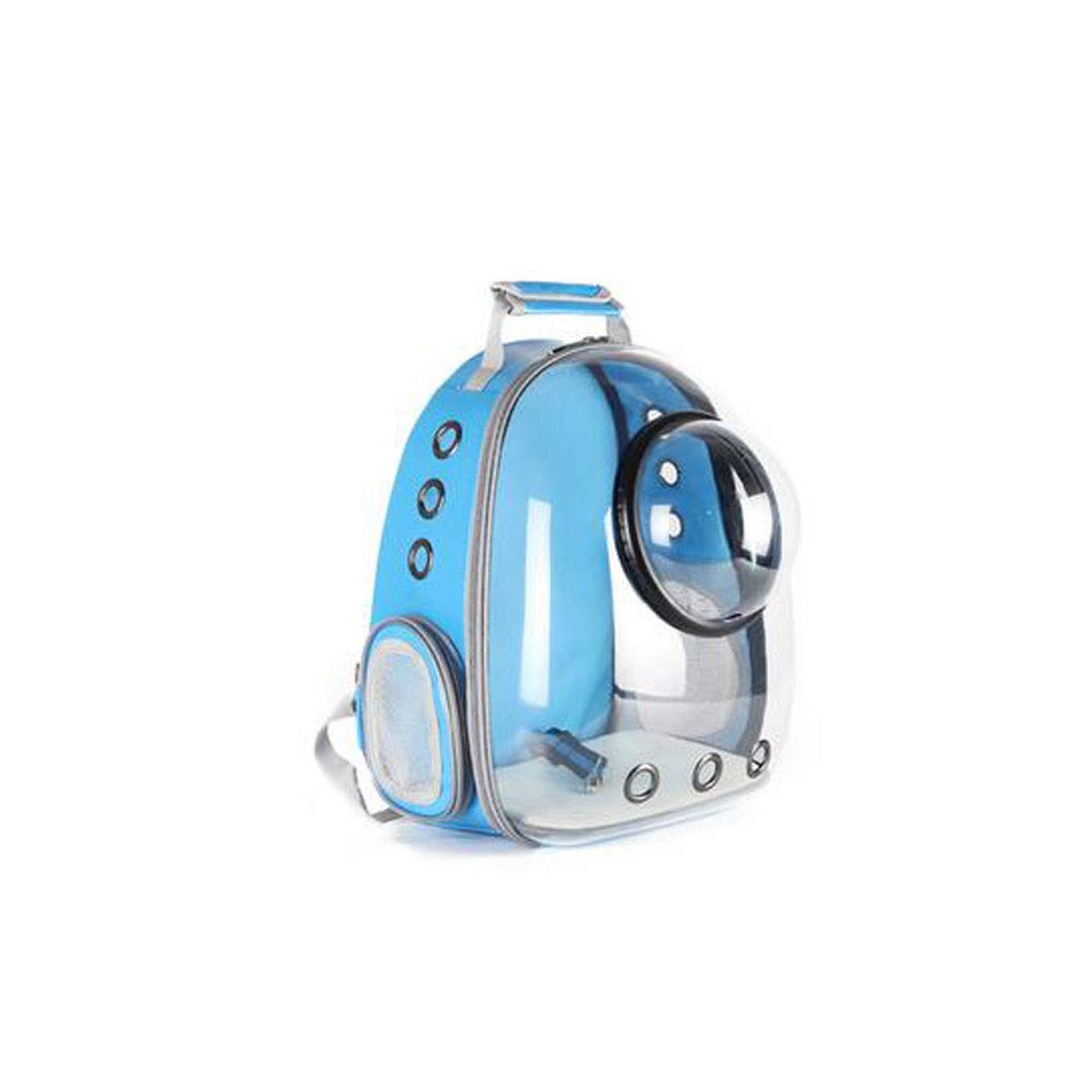bluee Chenjinxiang01 Large-capacity pet backpack, space capsule bubble transparent backpack, suitable for medium-sized pets for travel, hiking(bluee, Yellow) (color   bluee)
