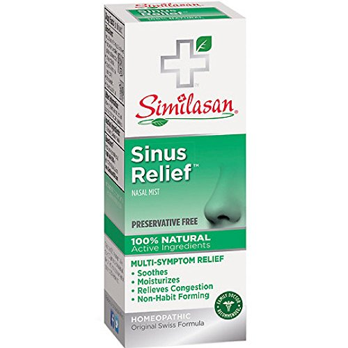 Similasan Sinus Relief Preservative Free Nasal Spray 0.68 Ounces, for Temporary Relief from Sinus Symptoms Like Congestion, Soothing and Moisturizing, Formulated with Natural Active Ingredients