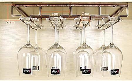 Soportes para Copas de Vino,Sostenedor del Vidrio de Vino,Creativo Estante de Copas de Vino Debajo del Gabinete,Colgante Sostenedor del Vidrio de Vino,Vino Copa Colgante,Bar Escritorio Bar Club Cocina