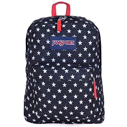 JanSport Unisex SuperBreak Black/White Stars One Size