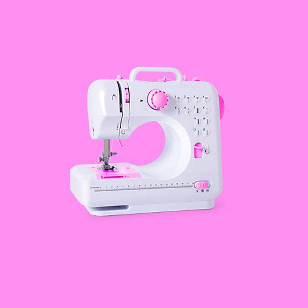 JIAAN Maquina de Coser Electrica 12 Puntadas Mini Maquina de Coser Portatil con Luz de LED Sewing Machine para Ropa,Fundas de Almohadas Sewing Machine