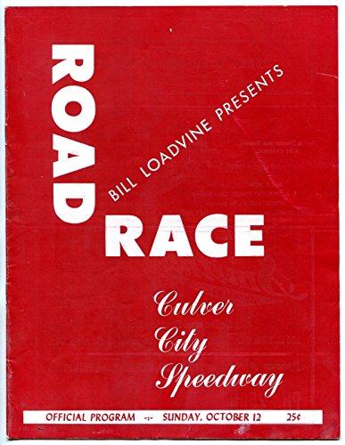 Culver City Stadium Auto Race Program October 12 1947- Road - Culver City The Shop