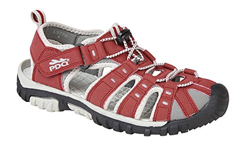 PDQ Ladies Womens Toggle Lace Touch Fastening Strap Sports Sandals Shoes Size 3-9 Red wKio7jp