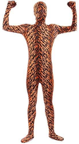 VSVO Second Skin Zentai Full Body Costume (Kids Large, Tiger) (Tiger Costume Halloween Express)