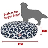 Navy Blue Links Large Round Indoor Outdoor Pet