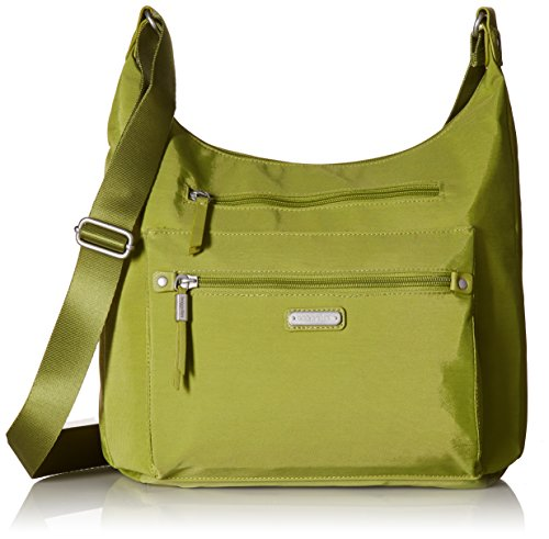 Baggallini Day Trip Hobo with RFID Phone Wristlet, spring green