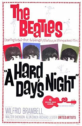 Image result for a hard days night poster