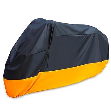 Negro XXXL Cubierta para Moto Smarcy Funda Protector para Moto Motocicleta Resistente al Agua a Prueba de UV Color Nanranja