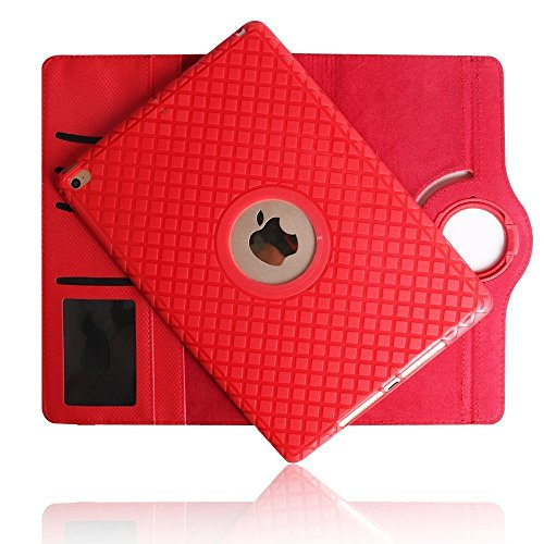 Price comparison product image iPad Case Mini 3 Cover,Hulorry Soft TPU 360 Degree Rotating Stand Case Heavy Duty Colorful Cover Rugged Protective Folio Case for iPad Mini 1/iPad Mini 2/iPad Mini 3