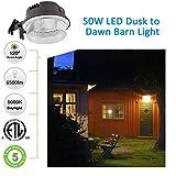 LED Barn Light 50W, SZGMJIA 6500lm Dusk to Dawn
