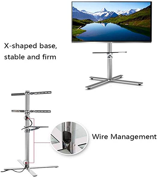 XUE-tap Soporte de TV MobileTV Cart TV Rolling Cart para Pantalla de Plasma de 32-50 Pulgadas LED LCD Montaje OLED Universal con Ruedas Gestión de Cables: Amazon.es: Hogar