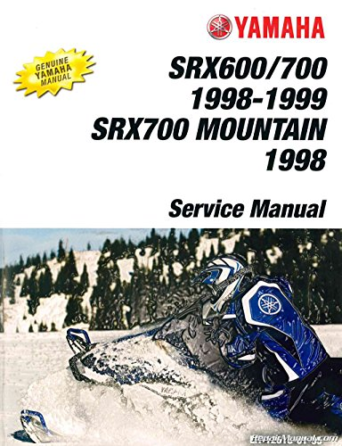 LIT-12618-01-95 1998-1999 Yamaha SRX600 SRX700 MSRX700 Mountain SRX Snowmobile Service Manual