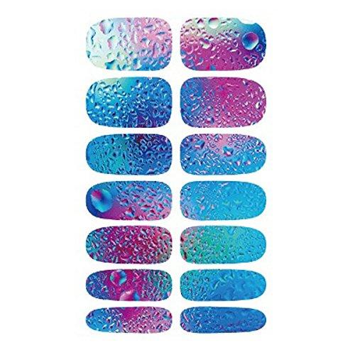 Nail Art Sticker - TOOGOO(R)1 sheet 3D Women Nail Art Blue Ocean Drops Water Transfer Nail Sticker Nail Wraps Foil Decals SODIAL(R)