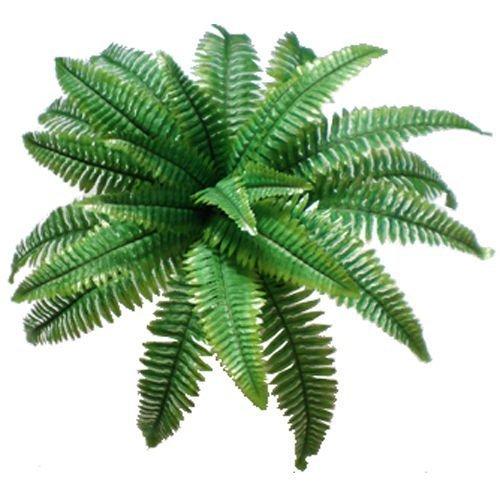 Large Artificial Silk Boston Fern Bush Plant Green Decorativ