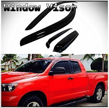 4pcs Sun//Rain Guard Vent Shade Window Visors Fit 07-17 Tundra Double//Crew Cab