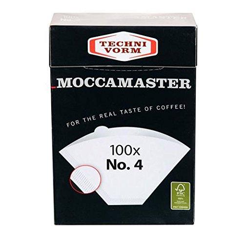 Technivorm Moccamaster 85022 Moccamaster #4 White Paper Filters, one size, by Technivorm Moccamaster