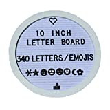 Round Felt Changeable Letter Board with Plastic Letters (White)
