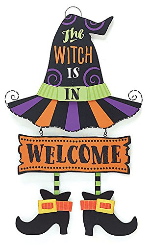 [The Witch is In & Out Hanging Wall Sign] (Hocus Pocus Halloween Costumes)