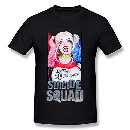 Sexy Hello Kitty Dress (Hsuail Men's Suicide Squad T-Shirt Black US Size L)
