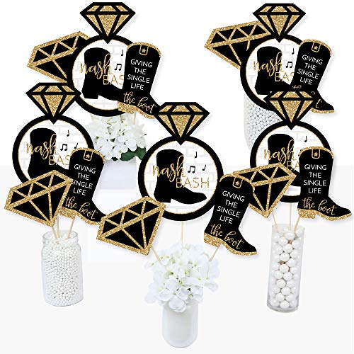 Nash Bash - Nashville Bachelorette Party Centerpiece Sticks - Table Toppers - Set of 15]()