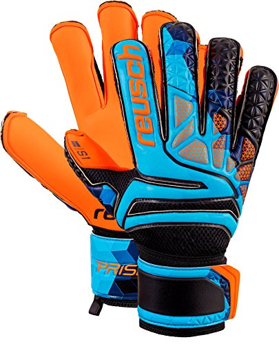 (Reusch Soccer Reusch Prisma Prime S1 Fusion Evolution Finger Support LTD Goalkeeper Glove Orange/Blue)