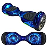Hoverboard Gold Case Best Deals - FBSport Board Hover Board Hover Skins Decal,Protective Vinyl Skin Stickers Wrap for 6.5 inches Self Balancing Board HoverScooter Leray Sogo Glyro Swagway X1 Decals Cover( BlueCircle )