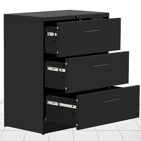 Amazon.com: Armario archivador lateral con 2 cajones y 3 ...