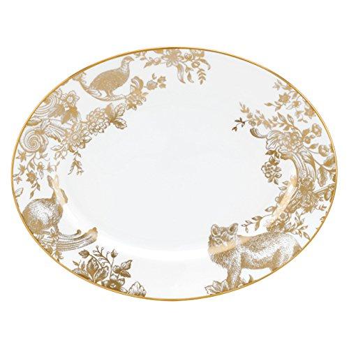 Lenox Marchesa Gilded Forest Oval Platter, 13