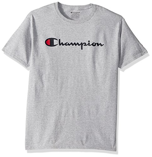 Champion Men's Classic Jersey Script T-Shirt, Light Steel, L