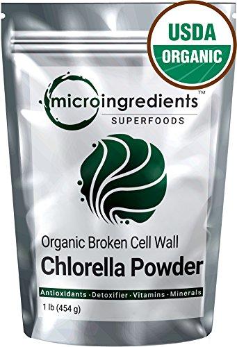Micro Ingredients USDA Organic Chlorella Powder, 1 Pound, Best Superfood Rich Vitamins & Proteins