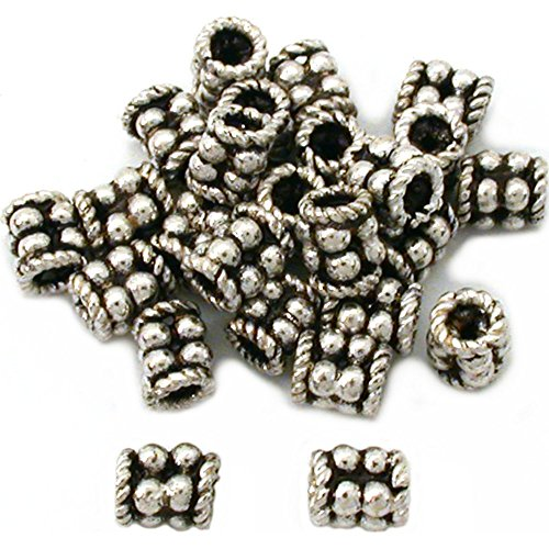 Barrel Bali Tube Beads Sterling Silver 4.5mm Approx 25